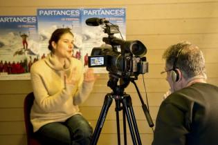 Jean Marc Angelini interviewant Jill Coulon