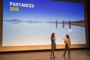 Patricia Combret et Patricia Ondina présentant la première soirée
