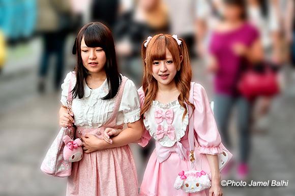 Japon Jeunes Japonaises roses de Tokyo©Photo Jamel Balhi