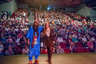 Jade Mietton et Agdal Waissan devant leur public