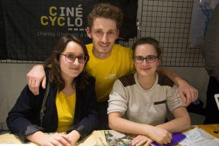 Vincent Hanrion et les bénévoles de cinécyclo